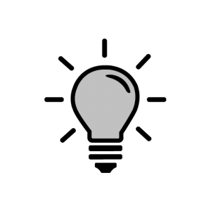 Service light bulb Icon product development